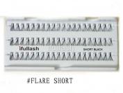 Flare Short, 12 Packs ifullash 100% Human Hair Eyelashes