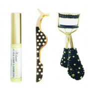 Milanté BEAUTY Crystaluxe Eyelash Curler, False Lash Applicator And Latex Free Fake Lash Glue Adhesive Set Kit