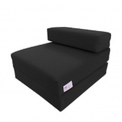 Single Z Bed / Guest Bed / Fold Out Spare Bed Sofa / Chair / Futon / Mattress | Black