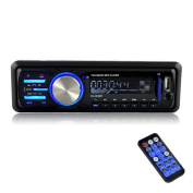BESTREE 12V Bluetooth In-Dash Car Stereo receiver FM Radio MP3 Audio Player with Remote Control