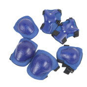 6-in-1 Cycling and Roller Blading Wrist Elbow Knee Pad Sports Support Protective Gear for Kids