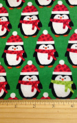 1 Yard - Christmas Penguins on Green Flannel Fabric (Great for Quilting, Sewing, Craft Projects, Blankets, Throw Pillows & More) 1 Yard x 110cm