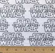 "1 Yard - Star Wars ""The Force Awakens"" logo Flannel Fabric - Officially Licenced (Great for Quilting, Throws, Sewing, Craft Projects, Blankets, and More) 1 Yard x 110cm"