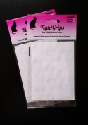 TightGrips Non-slip grips for Quilt Templates - 48 Pieces Total - 24 Large & 24 Small - 2 Pack