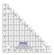 45° Half Square Shape Quilt Designing and Crafting Quilting Ruler Template 11cm by LINOGRAPH