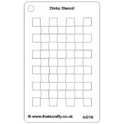That's Crafty Dinky Stencil 7.6cm x 12cm -Chequerboard Background