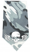 Mirage Pet Products Skull Wings Screen Print Bandana Grey Camo