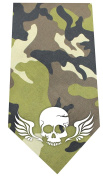 Mirage Pet Products Skull Wings Screen Print Bandana Green Camo