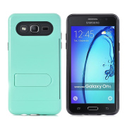 Galaxy On5 Case, NOKEA [Card Slot Holder] Dual Layer Shock Absorption Protective with Card Defender Shockproof Anti-Scratch Soft Rubber Bumper Cover Case for Samsung Galaxy On5