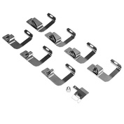ONEVER Zinc Alloy Rolled Hammer Presser Foot for Brother Singer Necchi Elana Janome Sewing Machine, 8pcs in 1 set