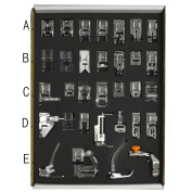 32pcs Low Shank Domestic Sewing Machine Presser Feet Set Household Product Item Services Tool Sundries Home Accessory