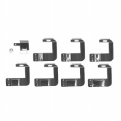 Powstro Rolled Hem Foot, 8pcs Multifunction Presser Foot Spare Parts Accessories 1.3cm 1.6cm 1.9cm 2.5cm for Sewing Machine Brother Singer