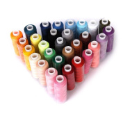 ROSENICE Assorted Colours Polyester Sewing Thread Spool Quilting Threads - 30 Pieces