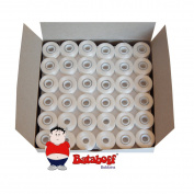 144 Prewound Magnetic Core Sideless Embroidery Bobbins-White- L Style