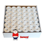 "144 Prewound Sideless Embroidery Bobbins - White- ""L Style"""