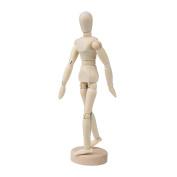 BQLZR 14cm Artists Wooden Manikin Mannequin Moveable Adjustable Limbs Human