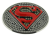 Superman Belt Buckle Comics Rhinestone Red Original Officially Licenced Product