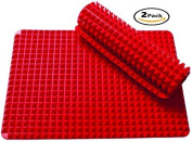 2 Ct Silicone Baking Mat Cooking Sheets Non-stick Fat-reducing 41cm x 29cm