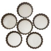 Webake 10cm Quiche Pans Removable Bottom Mini Tart Pans Set of 6