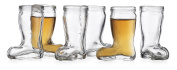 Set of 6 Boot Shot Clear Glasses for Drinking Whiskey Liquor Party 60ml Drinking Beer Boot Das Boot