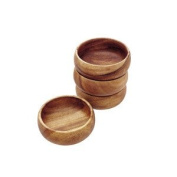 Pacific Merchants Trading Acaciaware Round Calabash Bowl, 8.9cm by 3.8cm , Set of 4