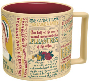Jane Austen Coffee Mug - Austen's Most Famous Quotes and Depictions - Comes in a Fun Gift Box - by The Unemployed Philosophers Guild