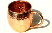 STREET CRAFT Hammered Copper Barrel Mug For Moscow Mules Capacity-470ml Brown.