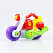 Leegor Kids Child Disassembly And Assembly Cartoon Motorcycle Toy With Tool Christmas Gift