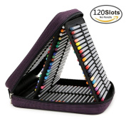 Behomy Handy Deluxe Pencil Wrap Case for Coloured Pencils 120 Slot Travel Watercolour Pencil Organiser Bag with Zipper