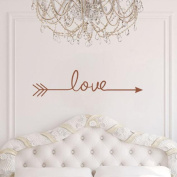 Webla Various Colour Love Arrow Family Decal Living Room Bedroom Vinyl Carving Wall Decal Sticker for Living Room Bedroom TV Background Kid's Nursery Room Family Decoration