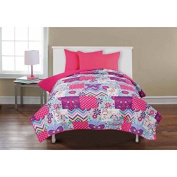 Mainstays Kids' Reversible Quilt, Owls & Butterflies Twin/ Full