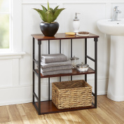 Silverwood Mixed Material Bathroom Collection 3-Tier Wall Shelf, Oil Rubbed Bronze