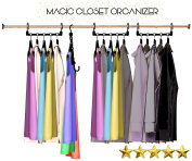 Magic Hangers As Seen on Tv Save Closet Space Clothes Organiser Purse Set of 10 - Lifetime Warranty