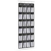 GREEN JUNGLE Over the Door Shoe Organiser Multi-purpose Heavy Duty Door Hanging Storage with 24 Large Mesh Pockets and 4 Steel Door Hooks