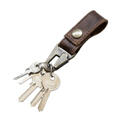 Rustic Leather Key Ring Holder Handmade by Hide & Drink :