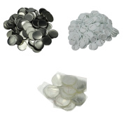 """DAWEI 100Pcs 3""""(75mm) Top/Bottom Cover Clip Pin Blank Badge & Button Parts for Badge Maker Machine"""