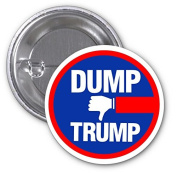 Dump Trump President 2 PACK of 7.6cm Buttons Flare by Debbie's Designs