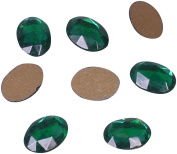 Green Crystal Oval Stone 18mm - 25 Pieces