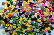 Lyracces Wholesale Lots 950pcs Sewing Fasteners Flatback Resin Buttons Mixed 19kinds of colour 11.5mm 2/5 Inches