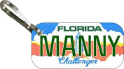 Personalised Florida Challenger Zipper Pull State Licence Plate Replica