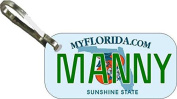 Personalised Florida Double Orange Zipper Pull State Licence Plate Replica