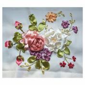 Egoshop Silk Ribbon Embroidery Kit Small FreshDIY Wall Decor Silk Ribbon Embroidery Kit