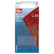 Prym Hand Sewing Needles Sharps 3 - 7 Assorted, Silver With Gold Eye