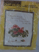 A CHEERFUL THOUGHT CREWEL STITCHERY KIT #8045 BY PARAGON, VINTAGE 1980