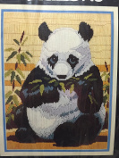The Panda stitch, The Lazy Panda forges in a bamboo forest aprox 23cm x 30cm
