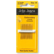 John James Embroidery Needles Size 10