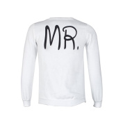 Sunfei Autumn His-and-Hers White Clothes Sport Top Long Sleeve Pullover
