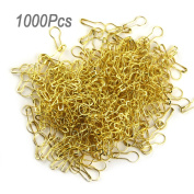 lieomo 1000pcs 2.2cm Tone Gourd Bulb Pear-shaped Safety Pins For Hanging Tags-Gold