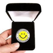 Velvet presentation Box - Attitude Is Everything Lapel Pin