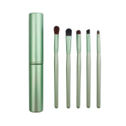 AMarkUp Professional 5 Pcs Pony Hair Eyeshadow Makeup Brushes Set & Kits For Eye Makeup Tool Kit + Round Tube